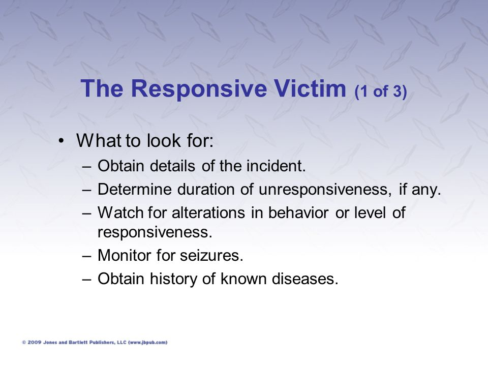The Responsive Victim (1 of 3)