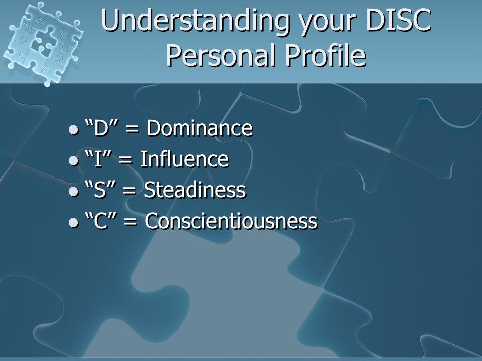 Understanding your DISC Personal Profile