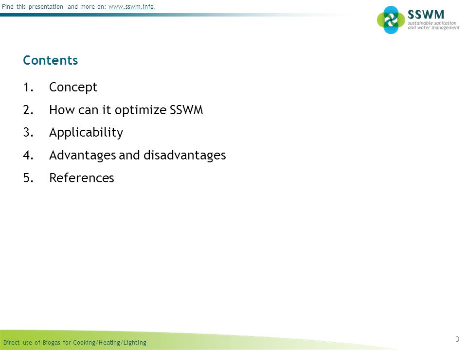 How can it optimize SSWM Applicability Advantages and disadvantages