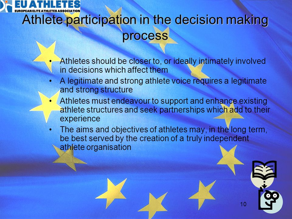 Athlete participation in the decision making process