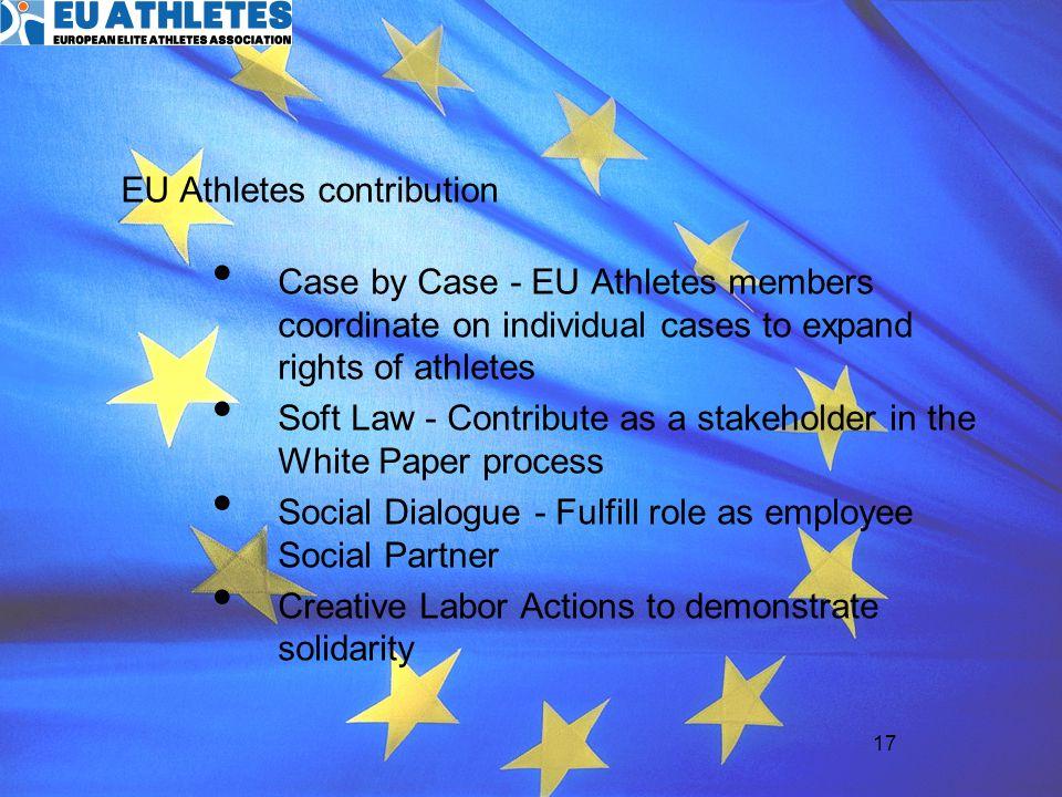 EU Athletes contribution