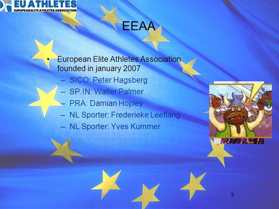 EEAA European Elite Athletes Association founded in january 2007