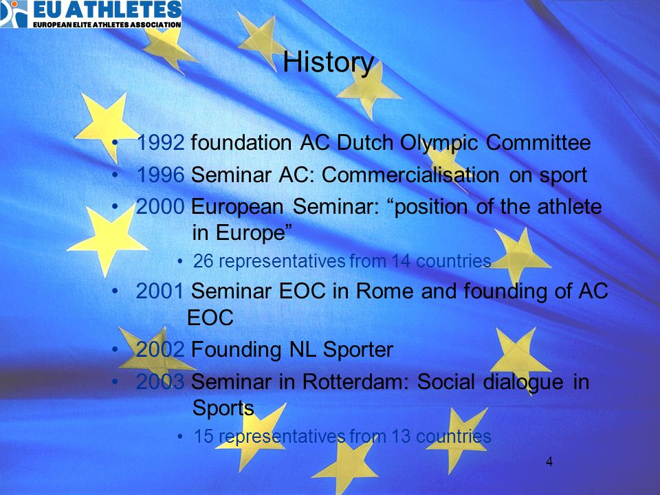 History 1992 foundation AC Dutch Olympic Committee