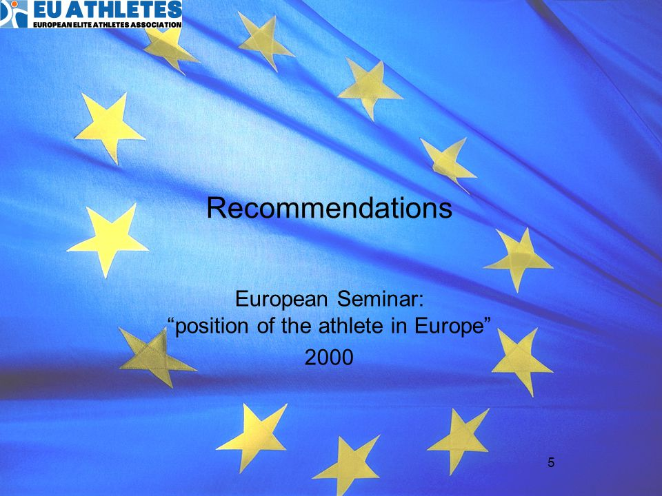 European Seminar: position of the athlete in Europe