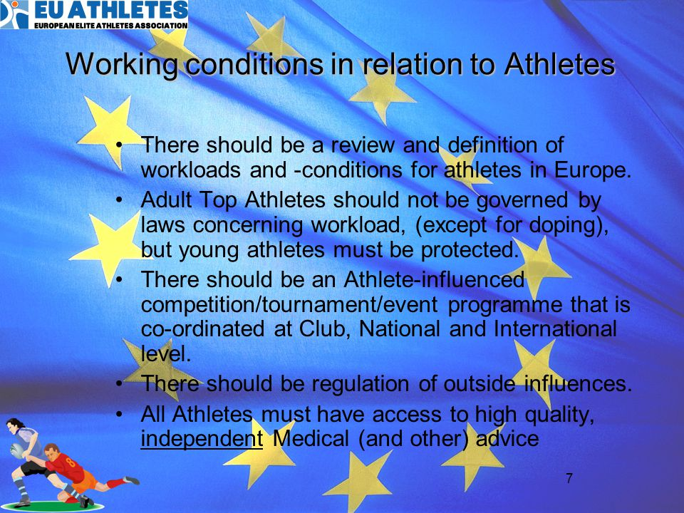 Working conditions in relation to Athletes