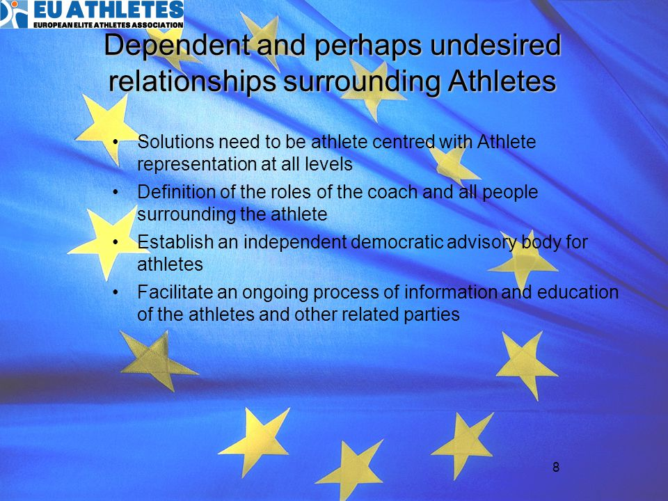 Dependent and perhaps undesired relationships surrounding Athletes