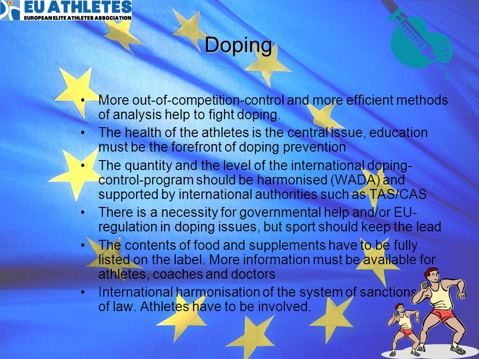 Doping More out-of-competition-control and more efficient methods of analysis help to fight doping.