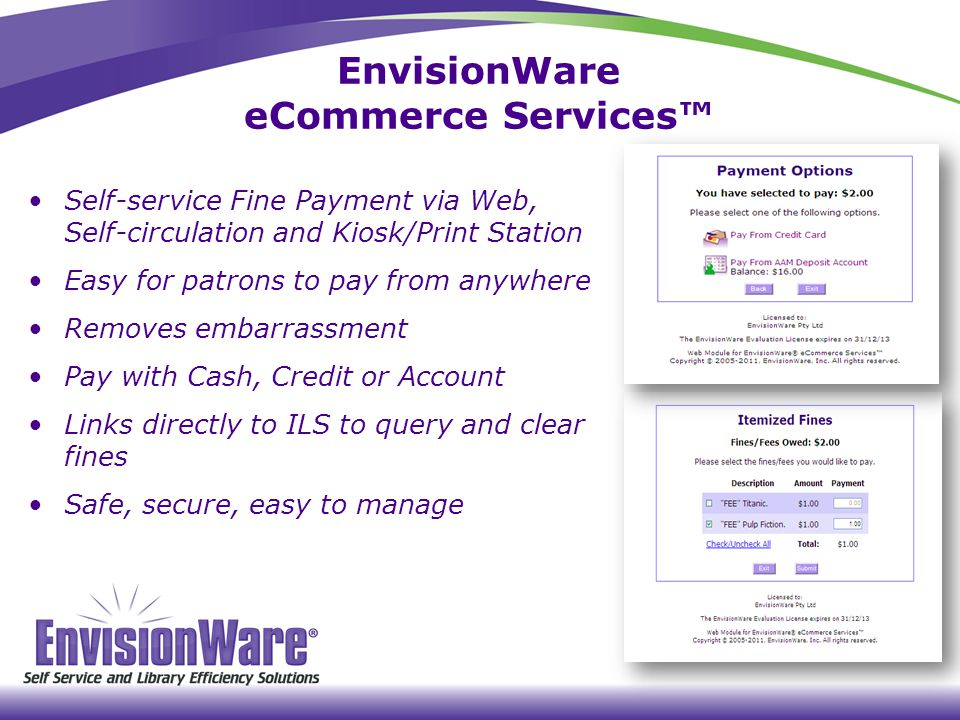 EnvisionWare eCommerce Services™