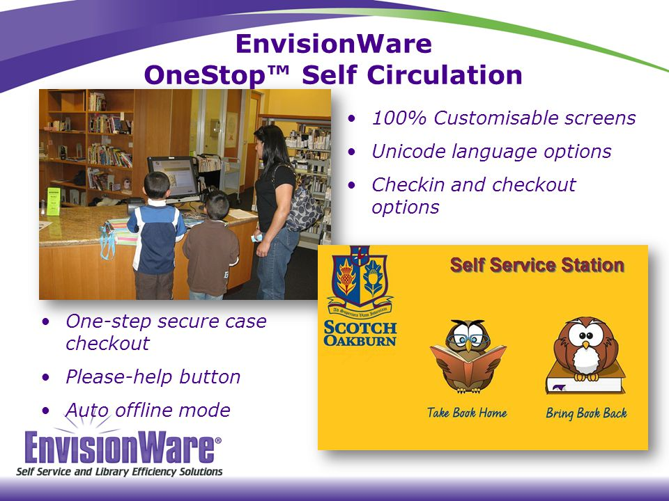 EnvisionWare OneStop™ Self Circulation
