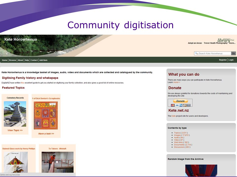Community digitisation