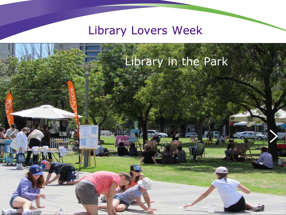 Library Lovers Week Library in the Park
