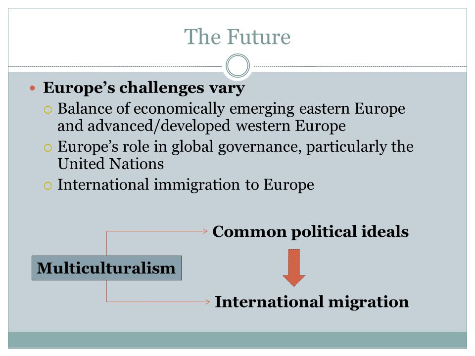 The Future Europe's challenges vary