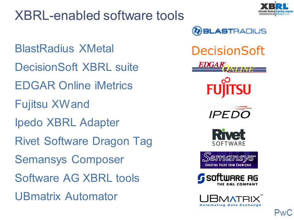 XBRL-enabled software tools