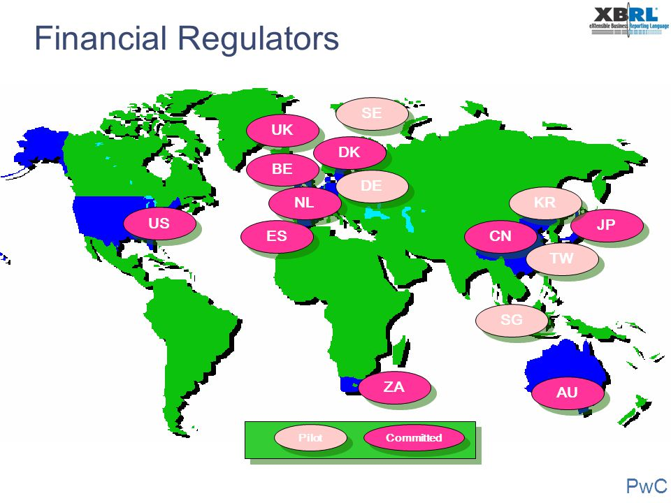 Financial Regulators SE UK DK BE DE NL KR US JP ES CN TW SG ZA AU