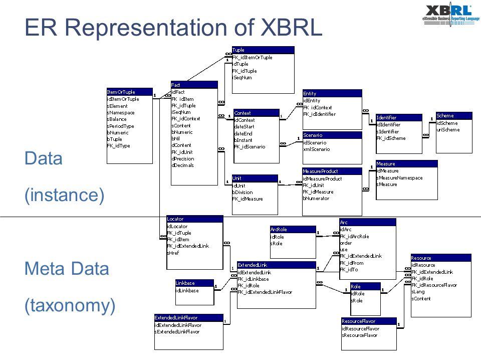 ER Representation of XBRL