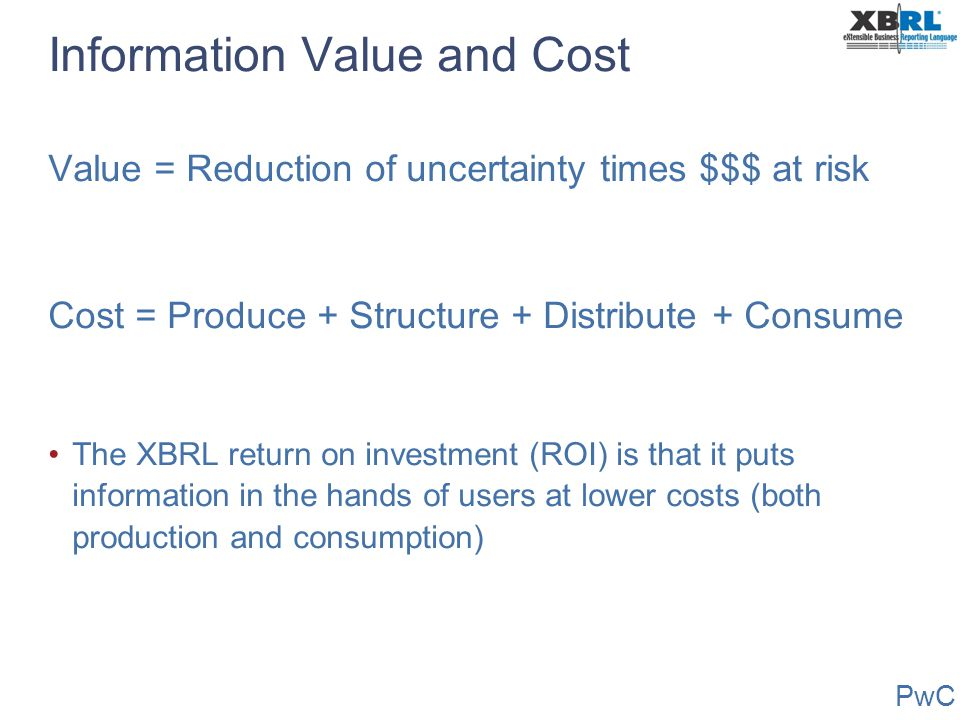 Information Value and Cost