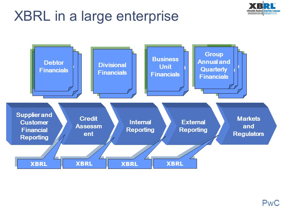 XBRL in a large enterprise