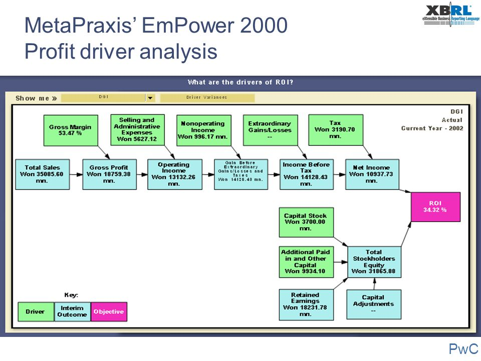 MetaPraxis' EmPower 2000 Profit driver analysis