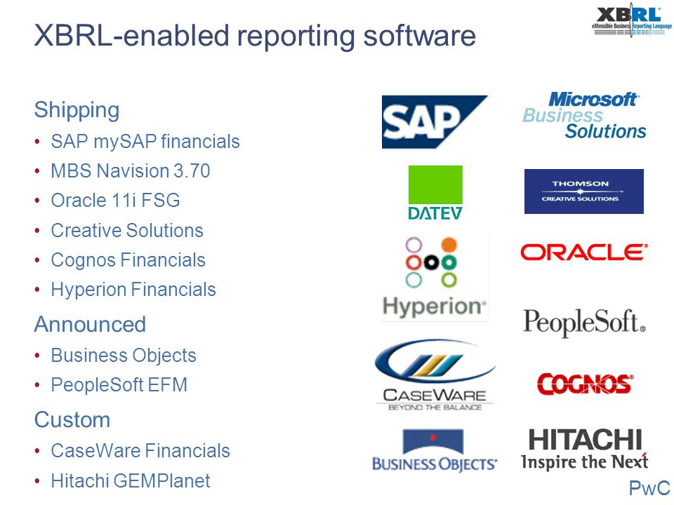 XBRL-enabled reporting software