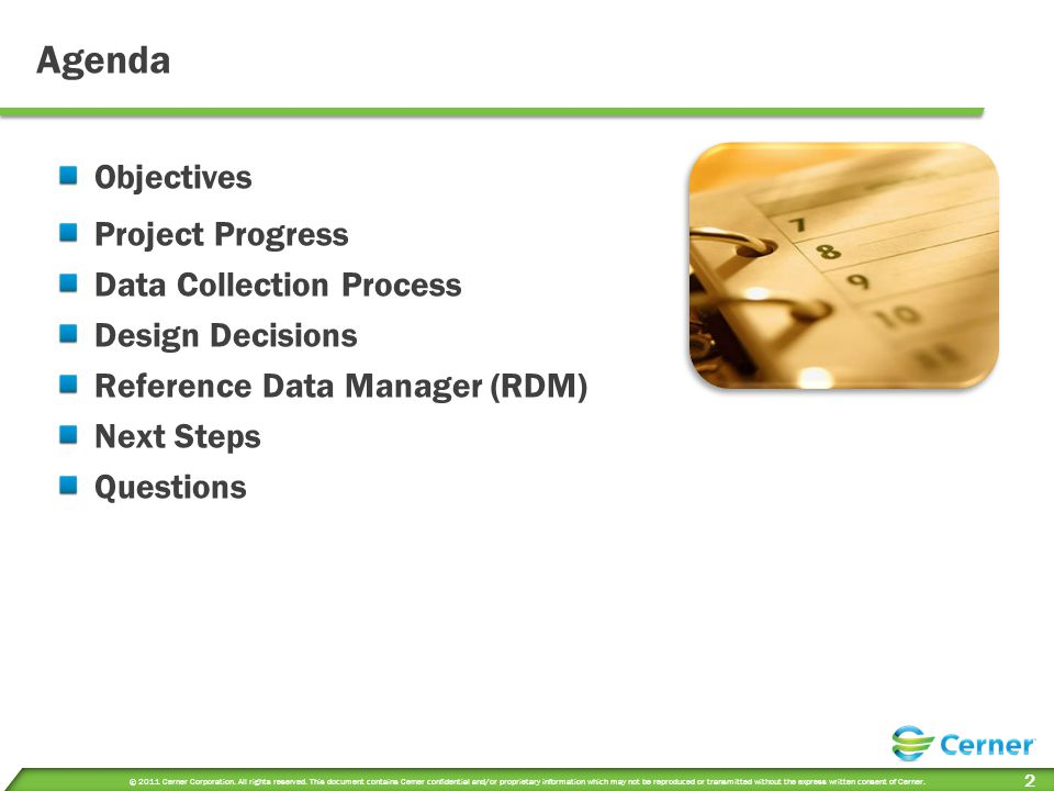 Agenda Objectives Project Progress Data Collection Process