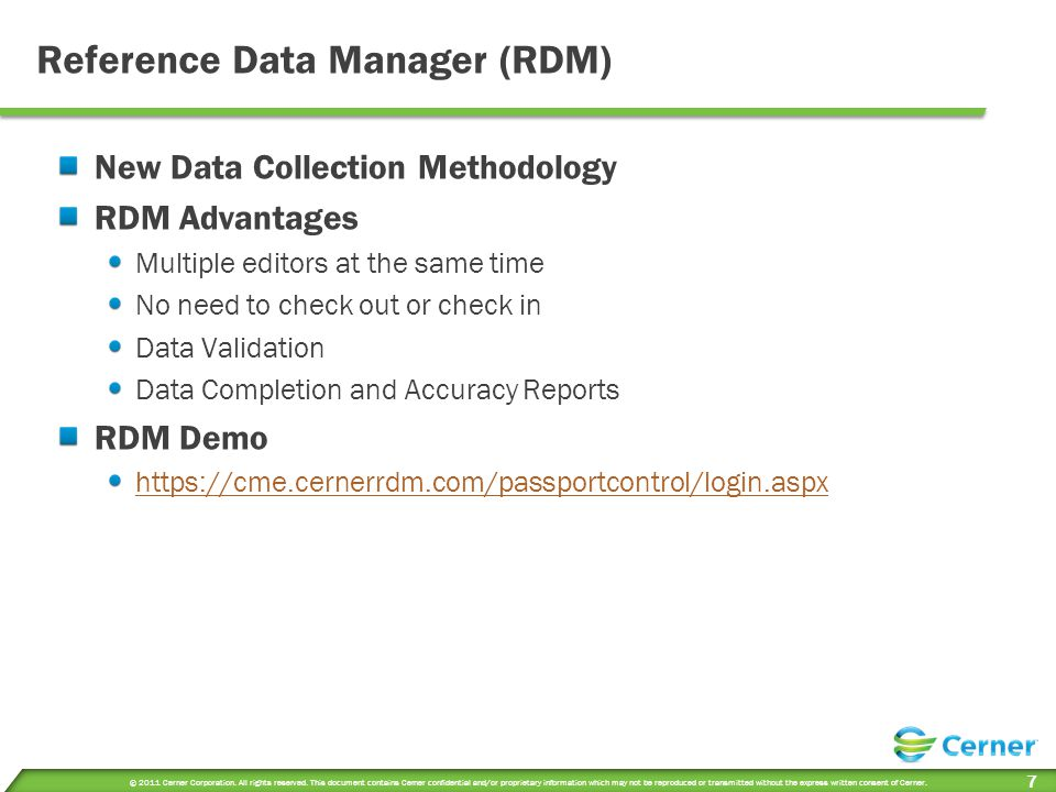 Reference Data Manager (RDM)