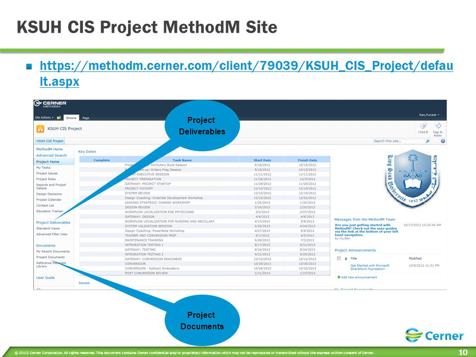 KSUH CIS Project MethodM Site