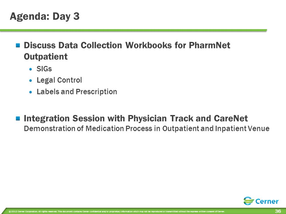 Session Objectives Day 3