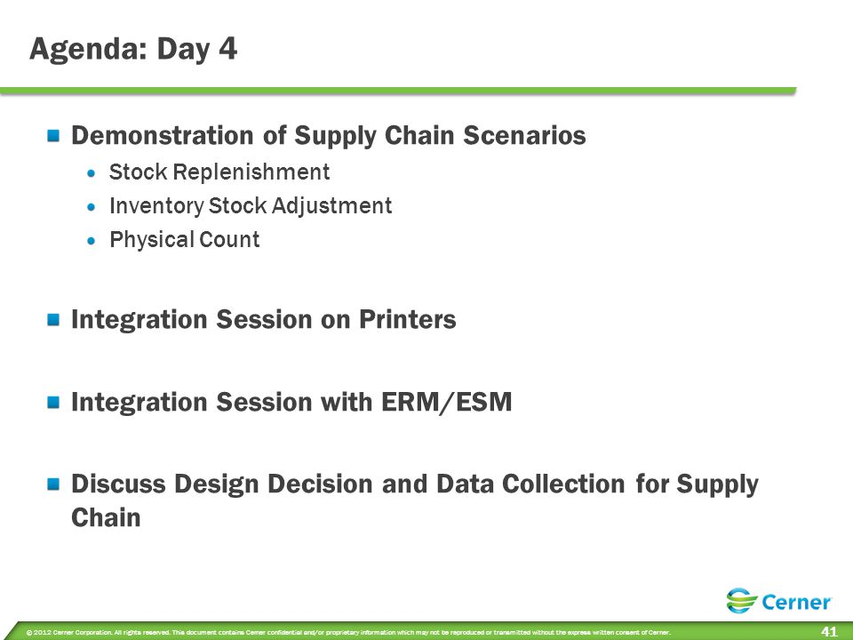 Session Objectives Day 4