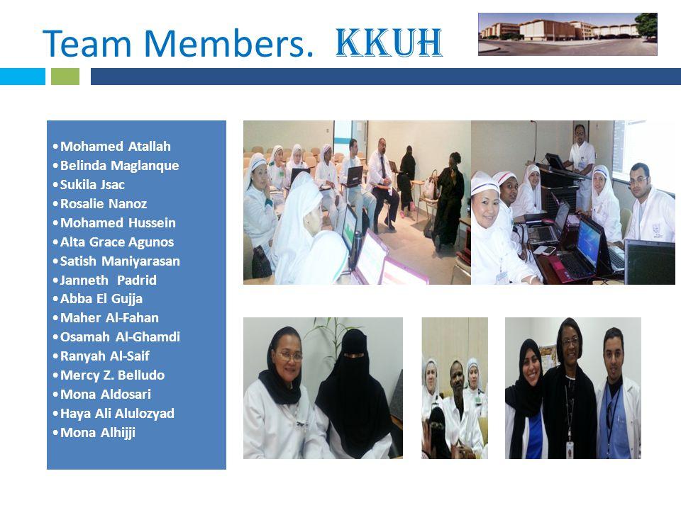 * Team Members. KKUH. Mohamed Atallah Belinda Maglanque Sukila Jsac