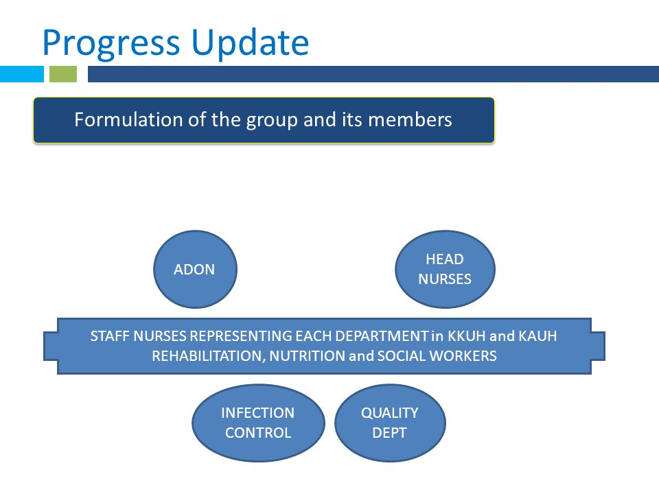 * Progress Update 1 . Formulation of the group and its members ADON