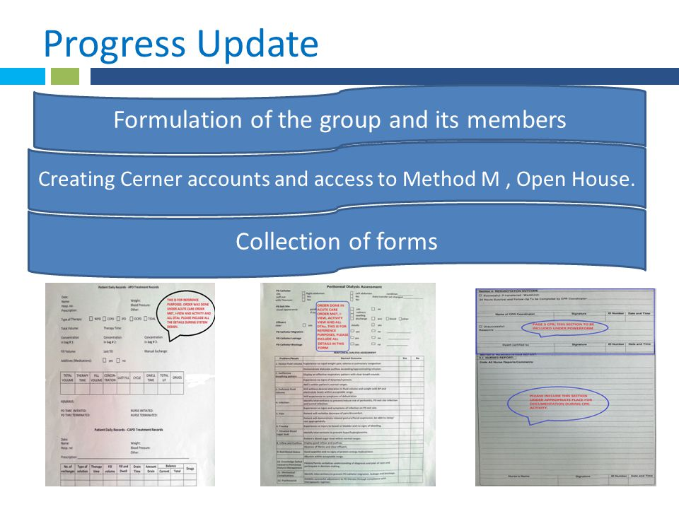 * Progress Update 1 . Formulation of the group and its members