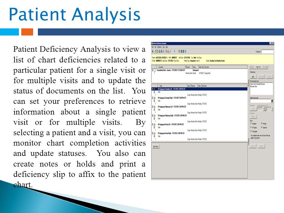 Patient Analysis