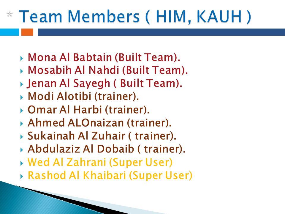 * Team Members ( HIM, KAUH )