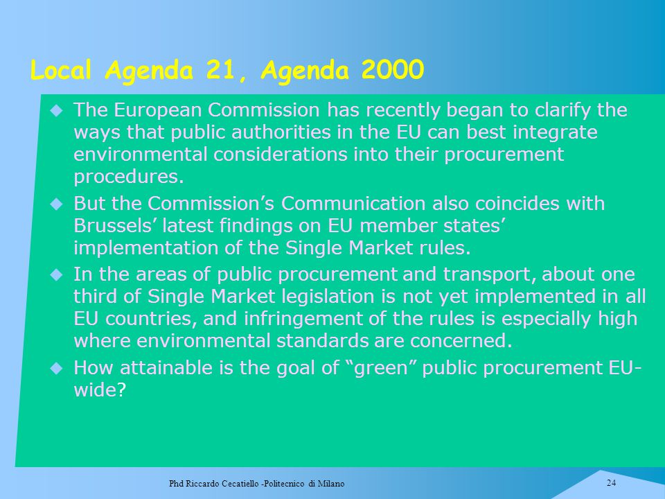 Local Agenda 21, Agenda 2000