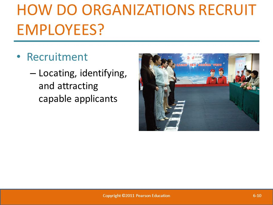 HOW DO ORGANIZATIONS RECRUIT EMPLOYEES