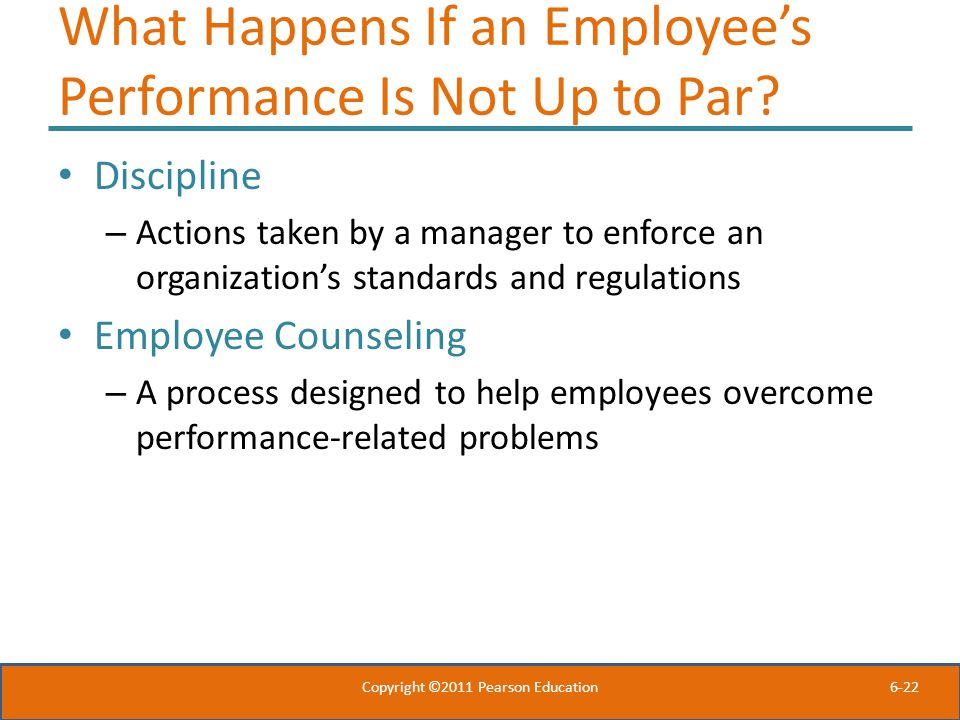 What Happens If an Employee's Performance Is Not Up to Par