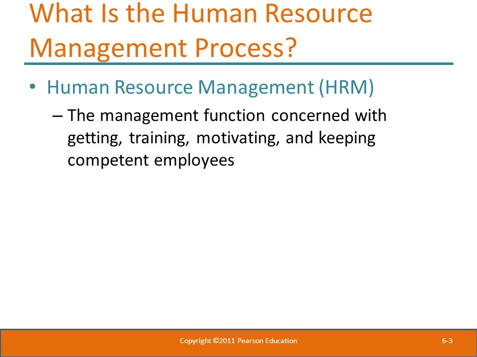 What Is the Human Resource Management Process
