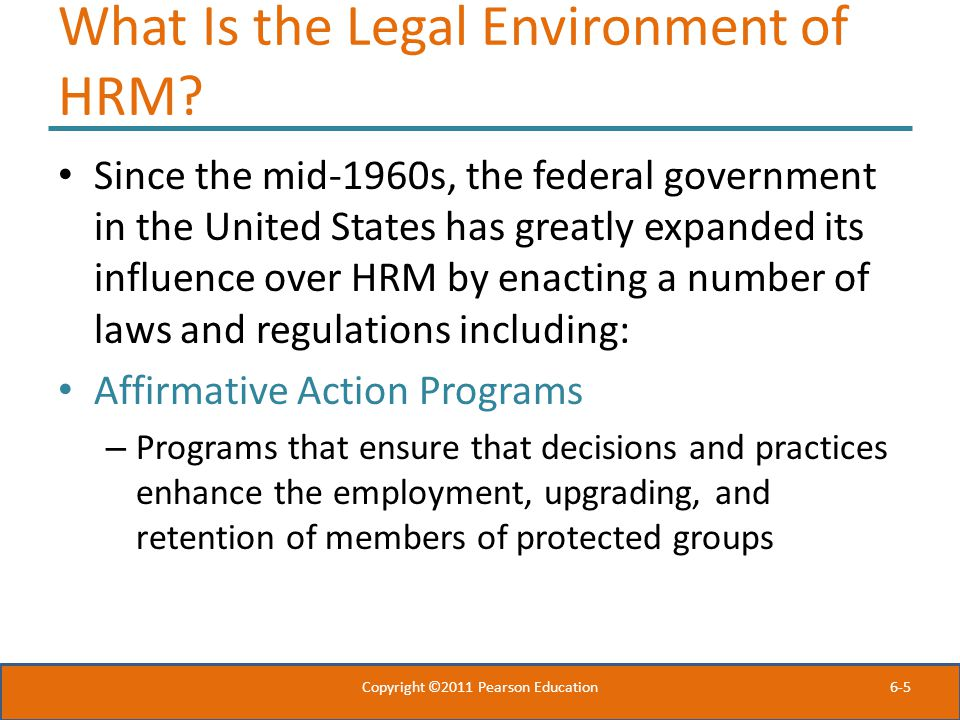 What Is the Legal Environment of HRM