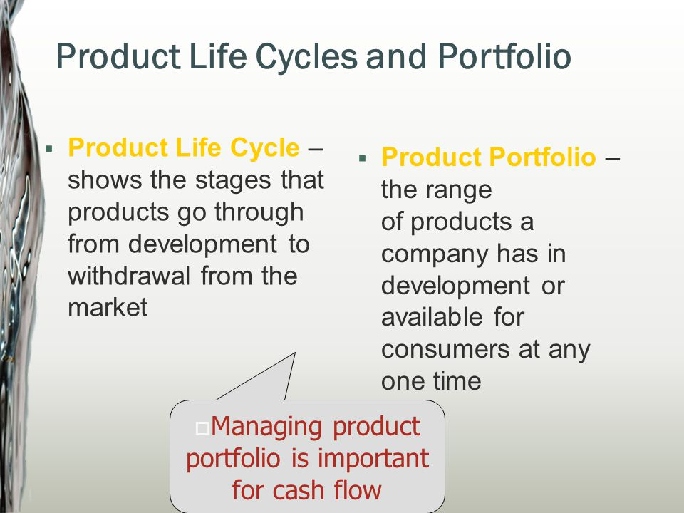 Product Life Cycles and Portfolio