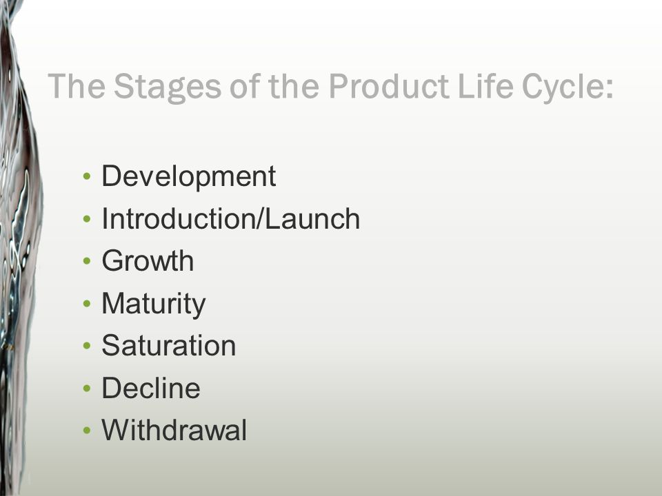 The Stages of the Product Life Cycle: