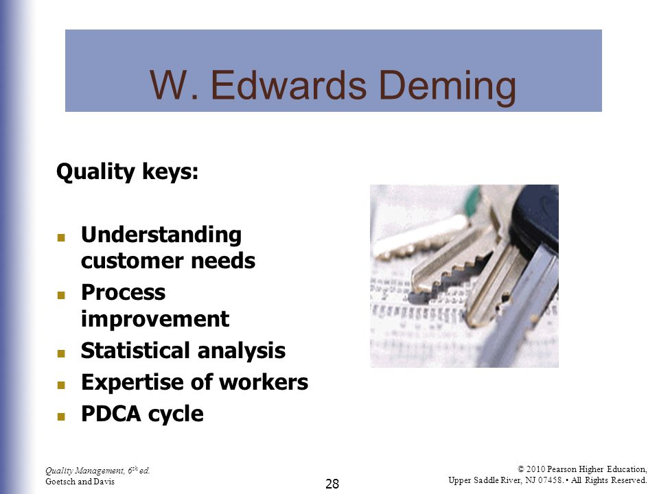 W. Edwards Deming Quality keys: Understanding customer needs
