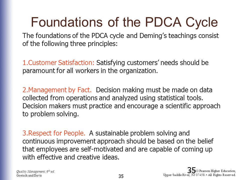 Foundations of the PDCA Cycle