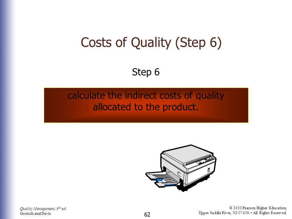 Costs of Quality (Step 6)