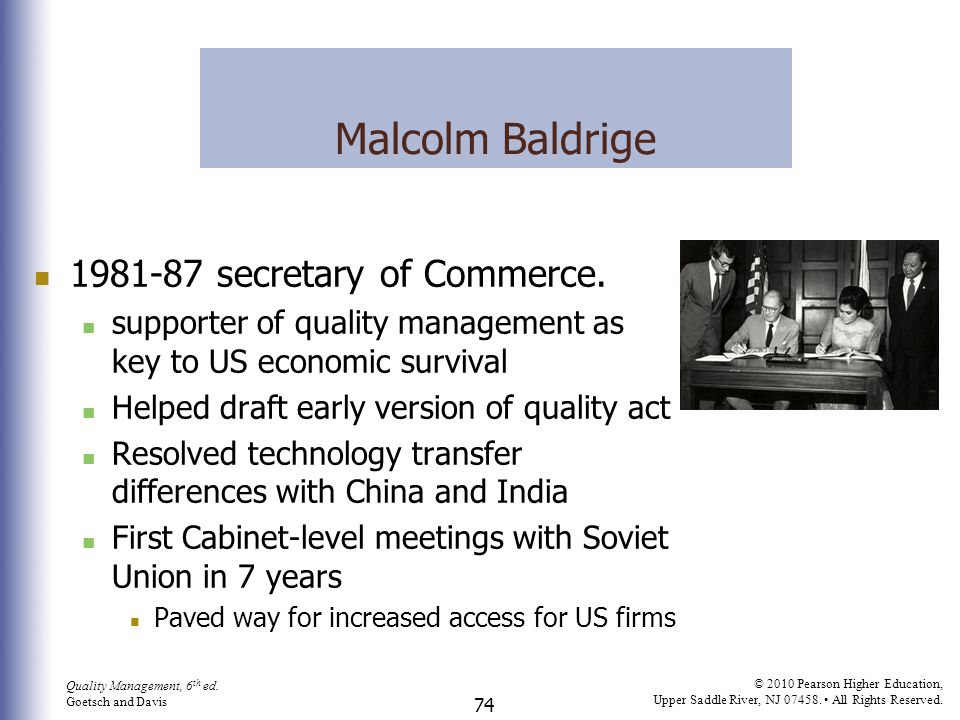 Malcolm Baldrige 1981-87 secretary of Commerce.