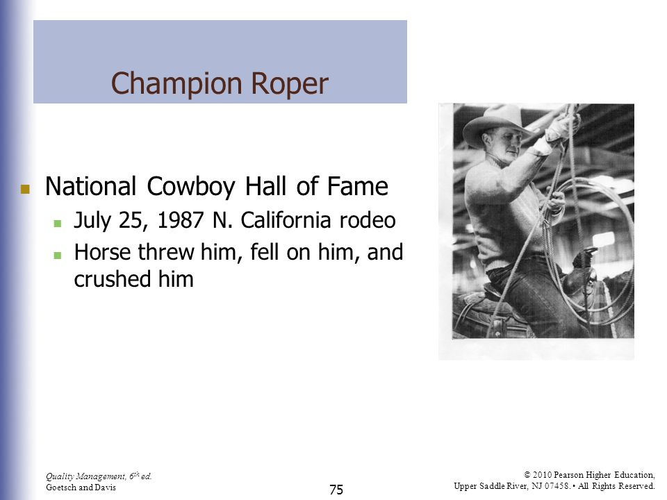 Champion Roper National Cowboy Hall of Fame