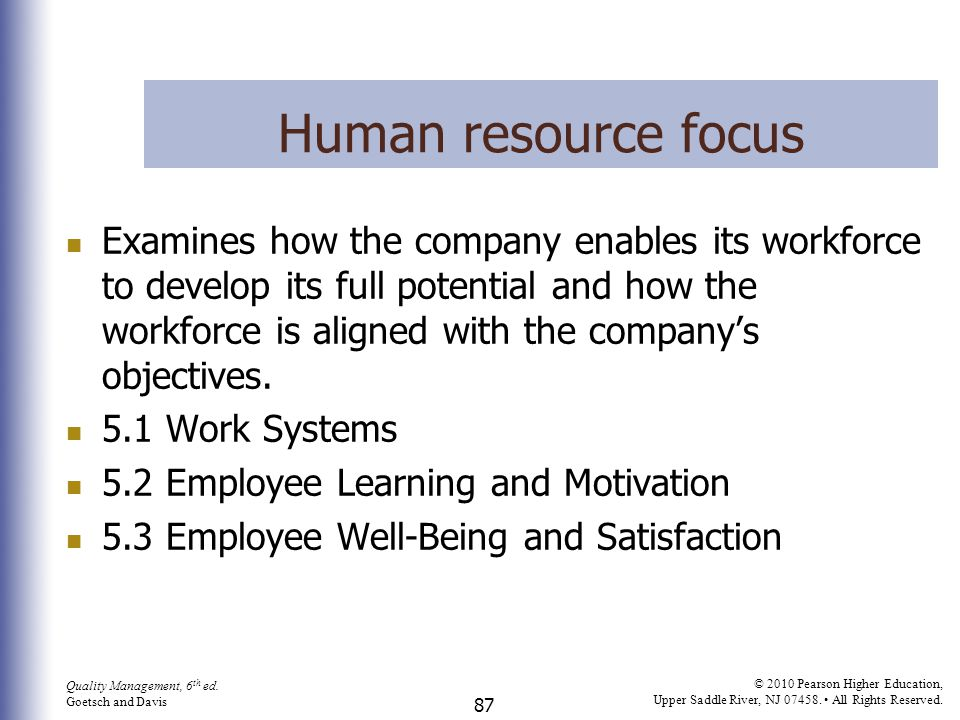 Human resource focus