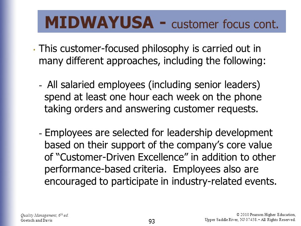MidwayUSA - customer focus cont.