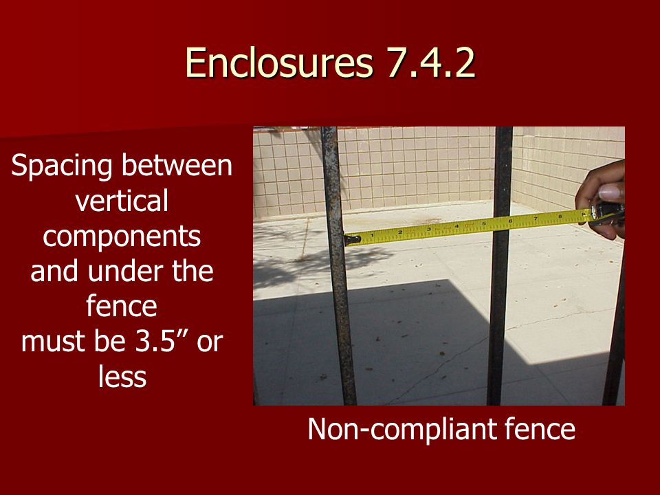 Enclosures 7.4.2 Spacing between vertical components
