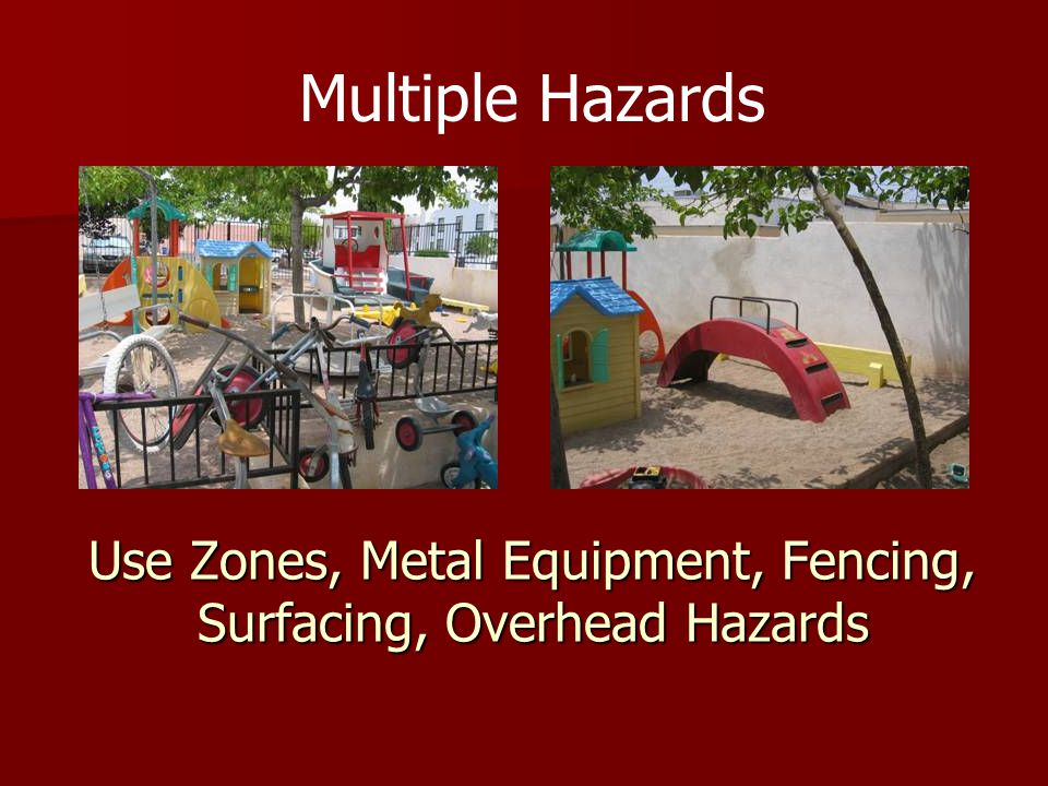 Use Zones, Metal Equipment, Fencing, Surfacing, Overhead Hazards