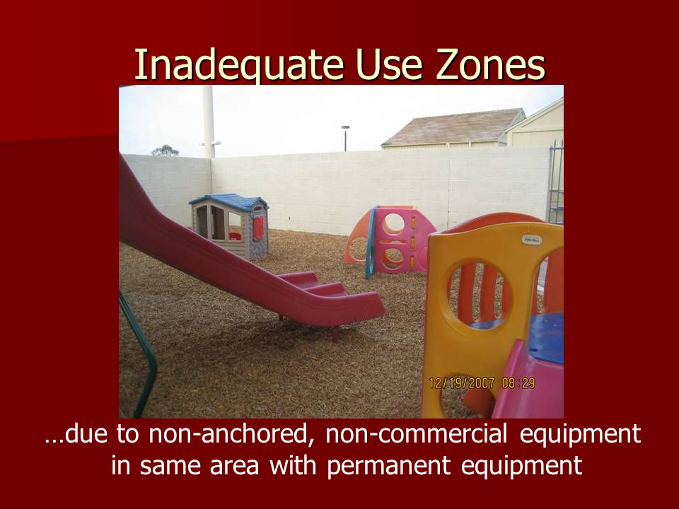 Inadequate Use Zones …due to non-anchored, non-commercial equipment